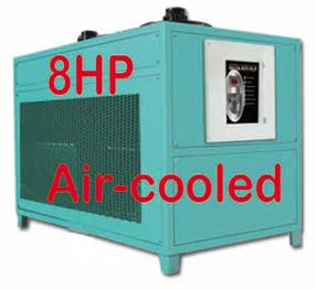 8hp water chiller-air cooled